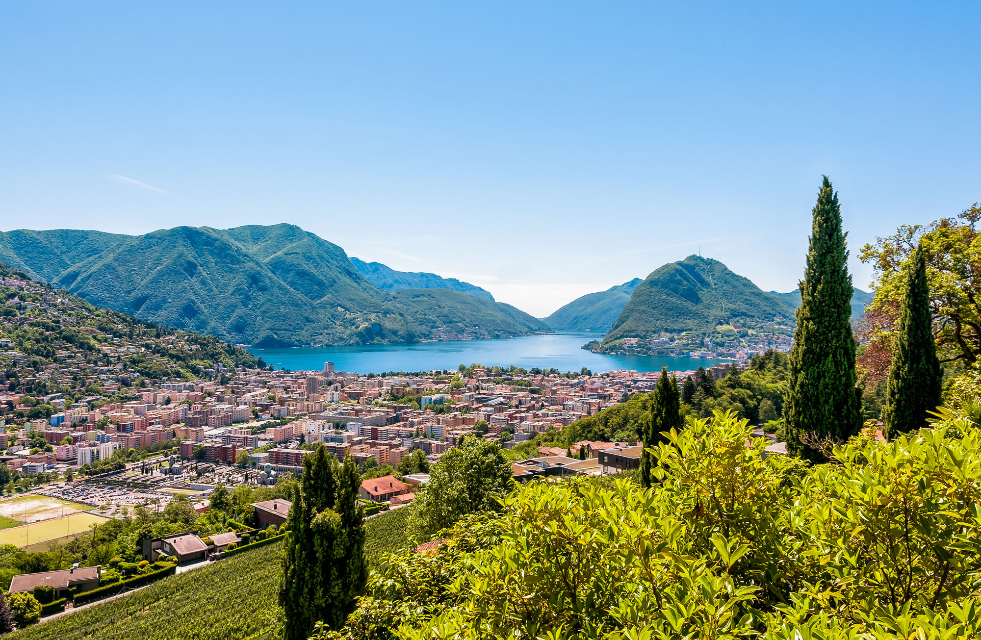 Lugano Lake Ticino, Switzerland