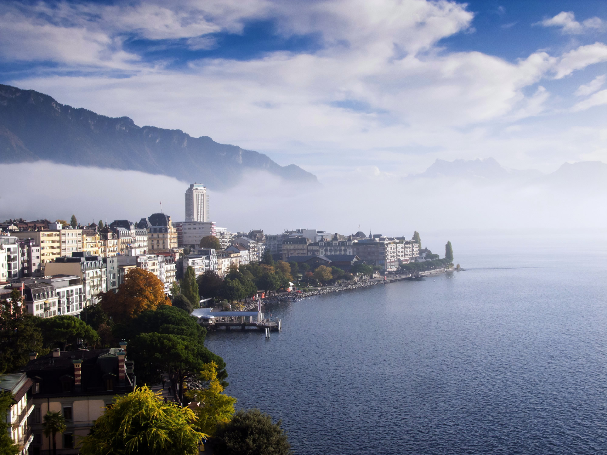 Montreux and Leman Lake Switzerland