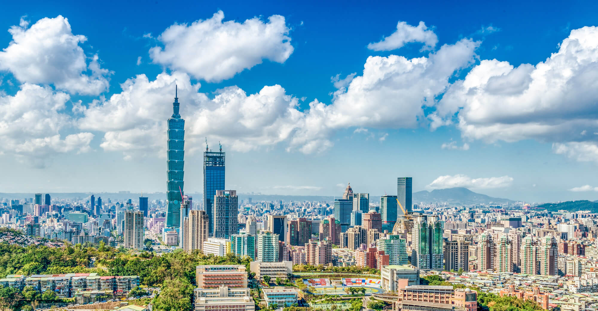 Panoramic of Taipei city, Taiwan