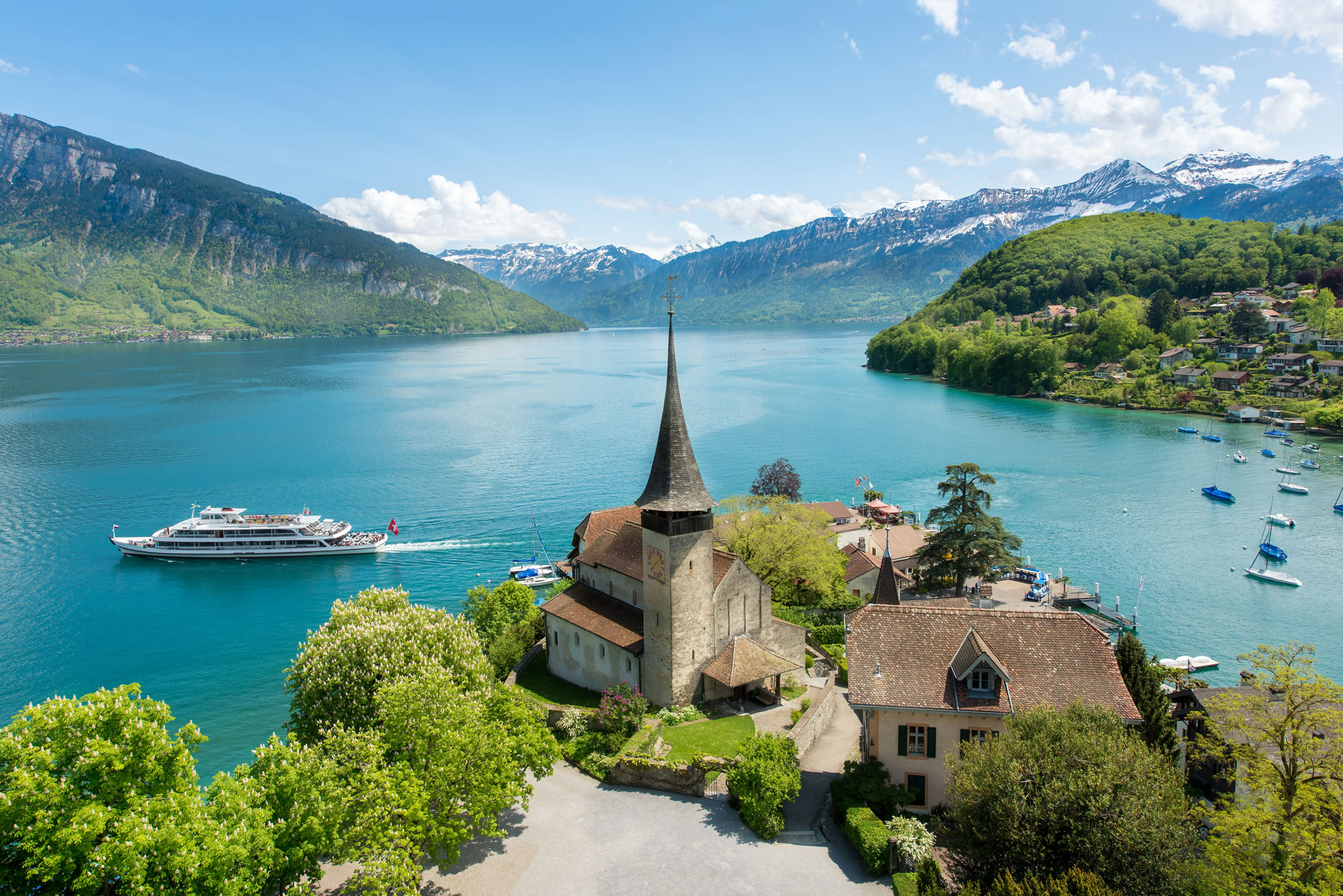 Brienz Town on Lake Brienz Switzerland