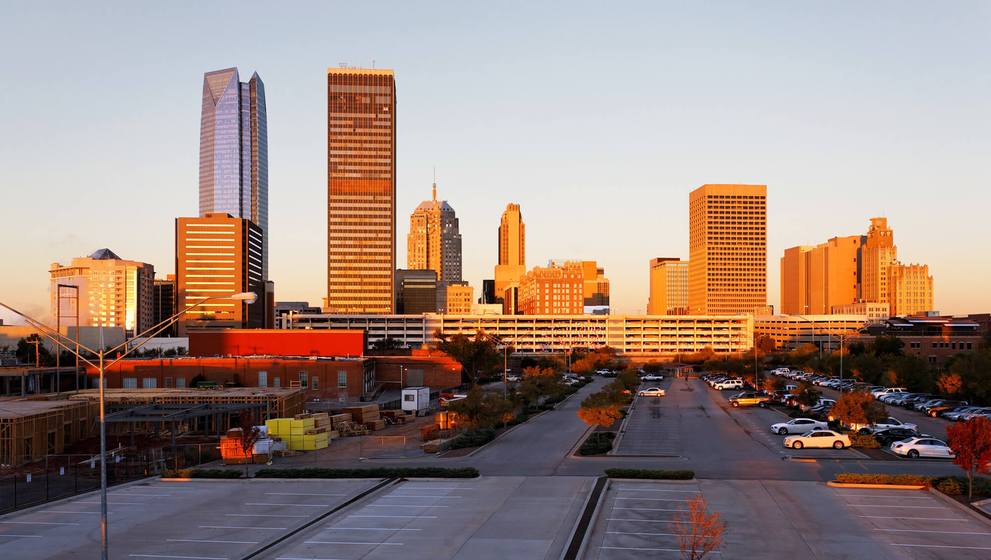 the skyline of Oklahoma City