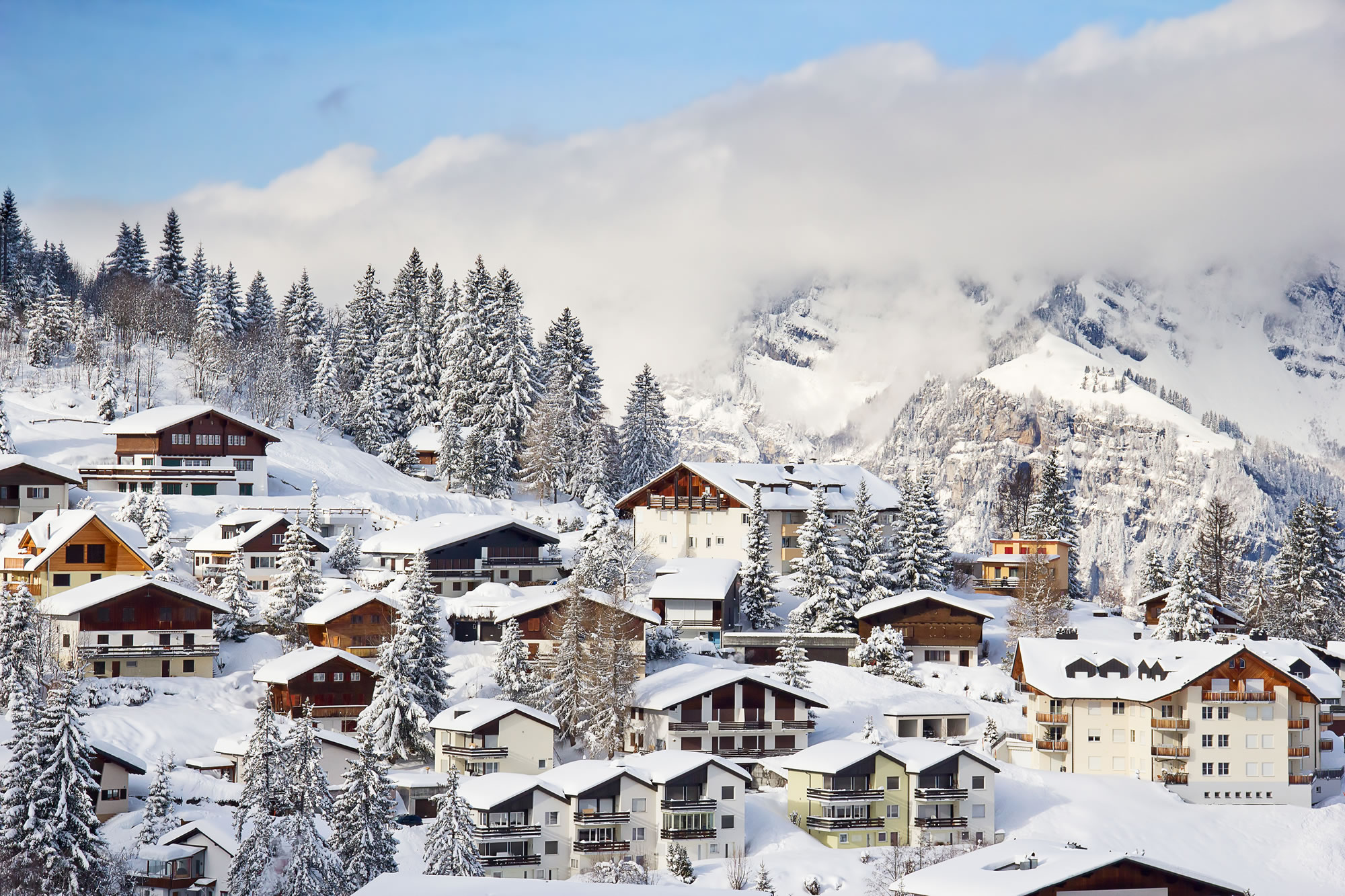 Winter in the Swiss Alps