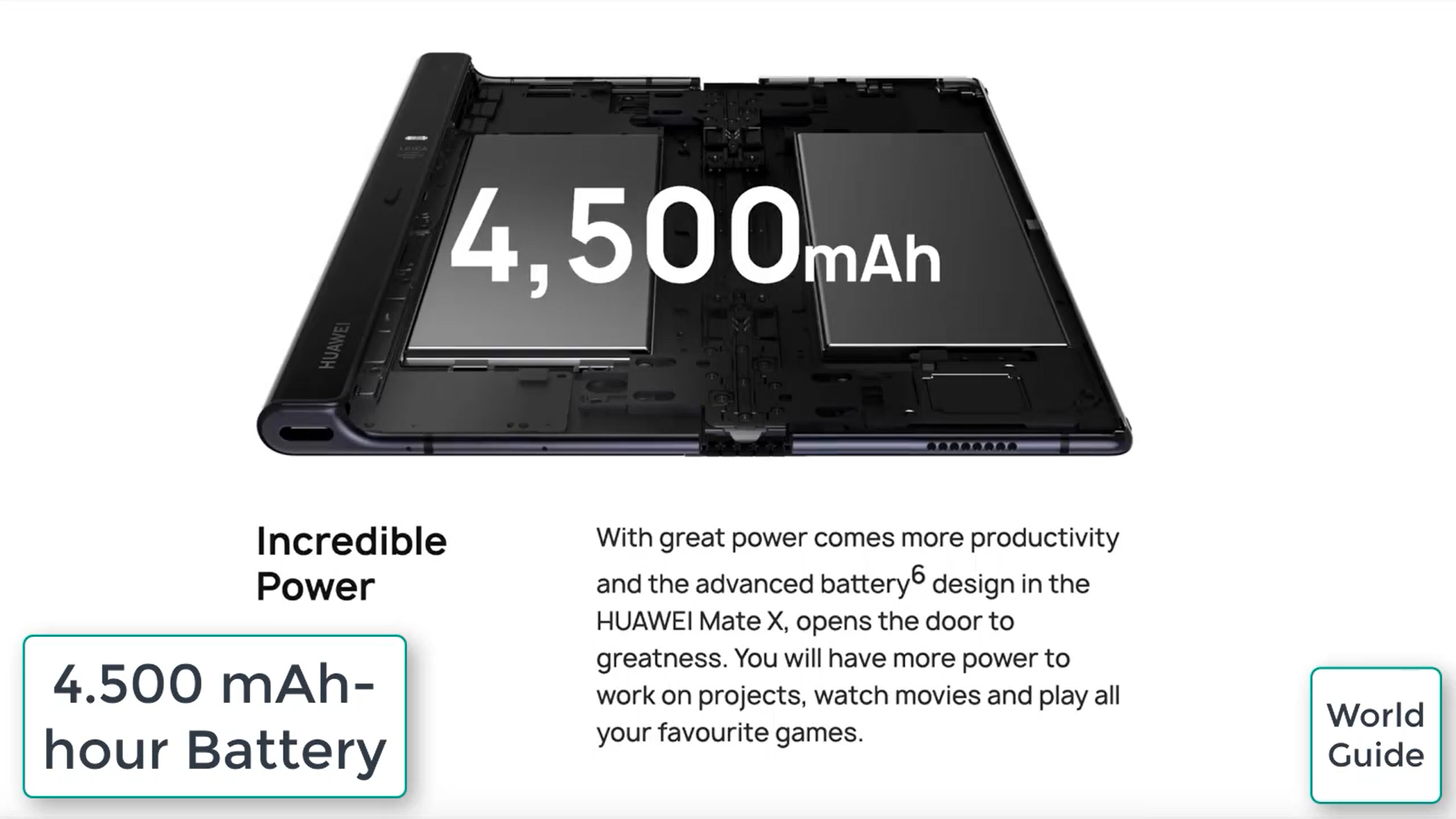 Huawei Mate X battery
