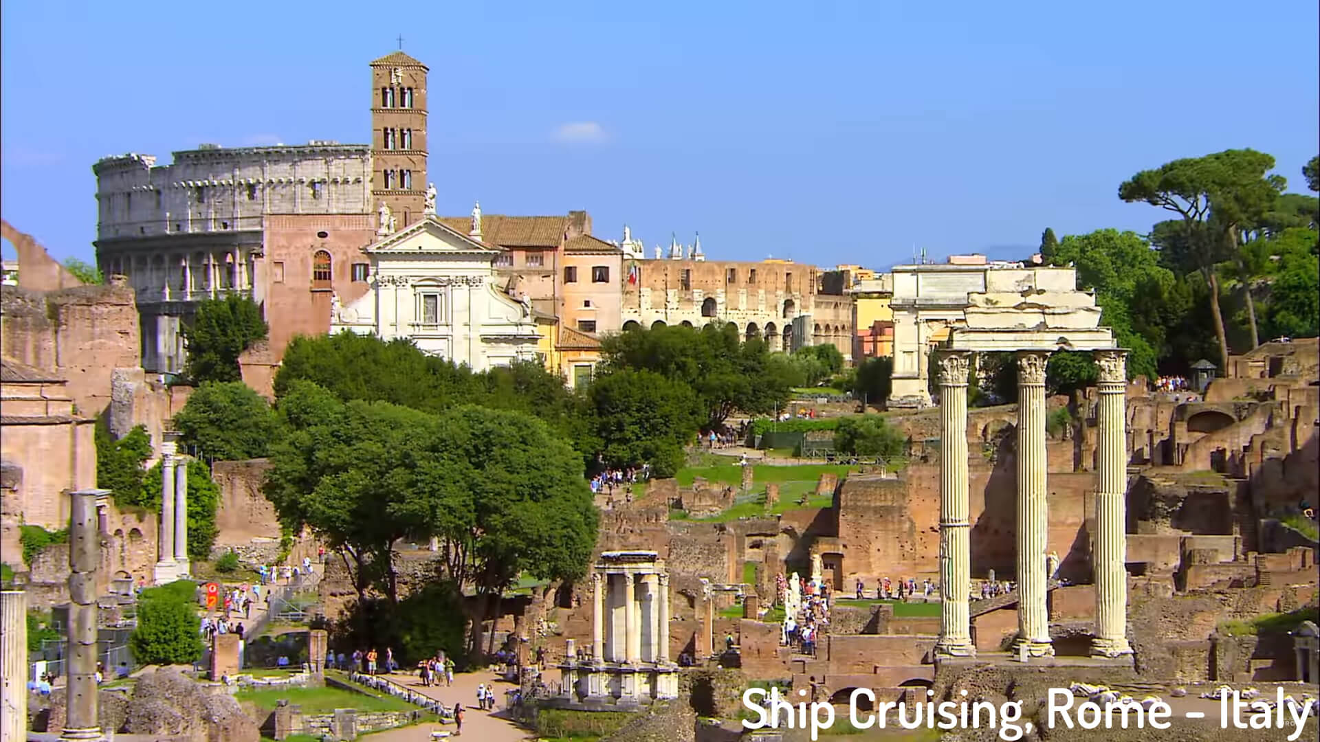 Ship Cruising, Rome - Italy
