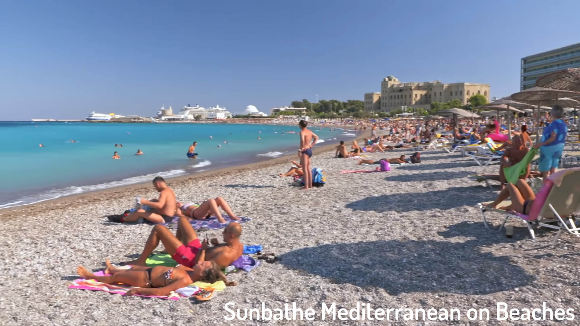 Sunbathe Mediterranean on Beaches