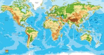 Africa Physical Map of the World