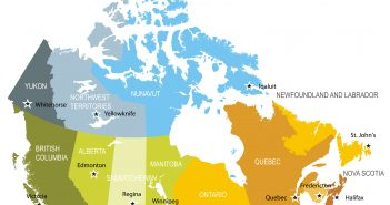 Canada Provinces Territories Map
