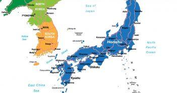 Japan Main Cities Map