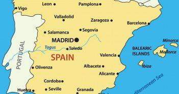 Spain Main Cities Map