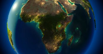 africa earth night map