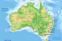 australia detailed physical map