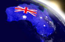 australia embedded flag map
