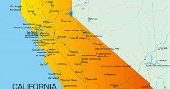 California Colorful Map