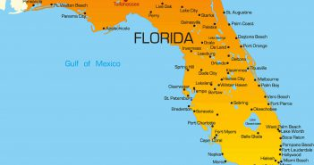 colorful map of florida