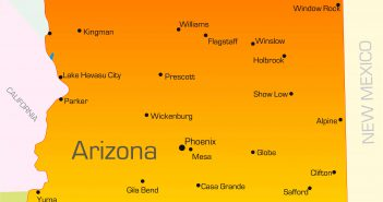 Vector color map of Arizona