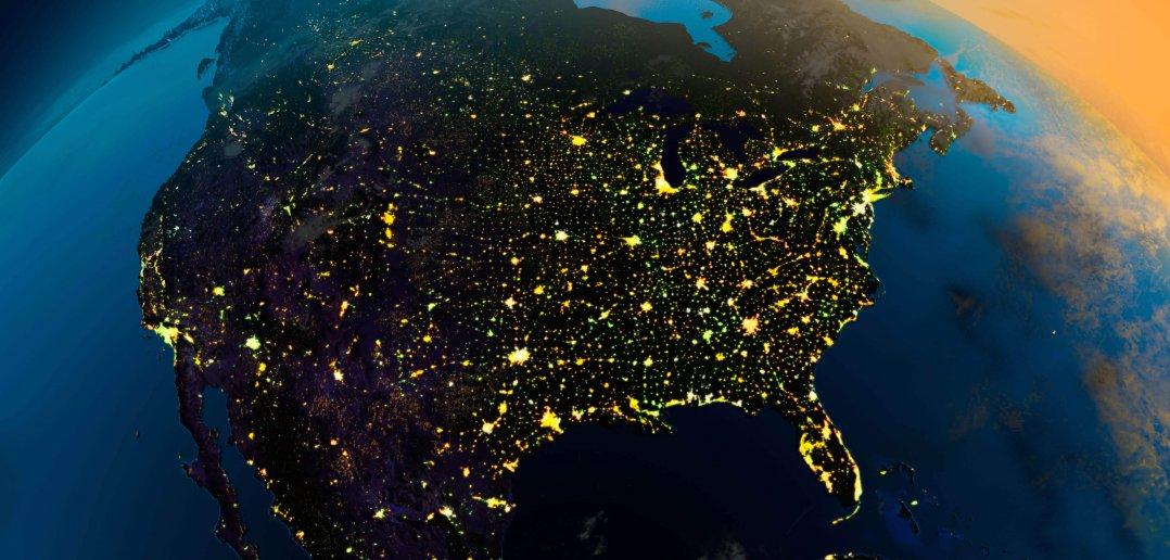 north america earth map