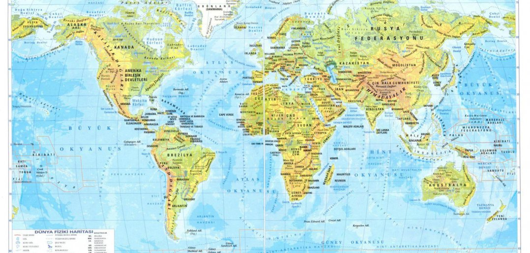 physical map world