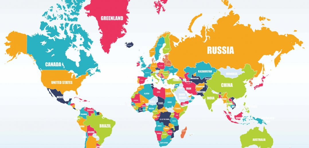 world map with countries