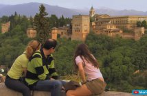 Alhambra Palace from St Nicolas Terrace