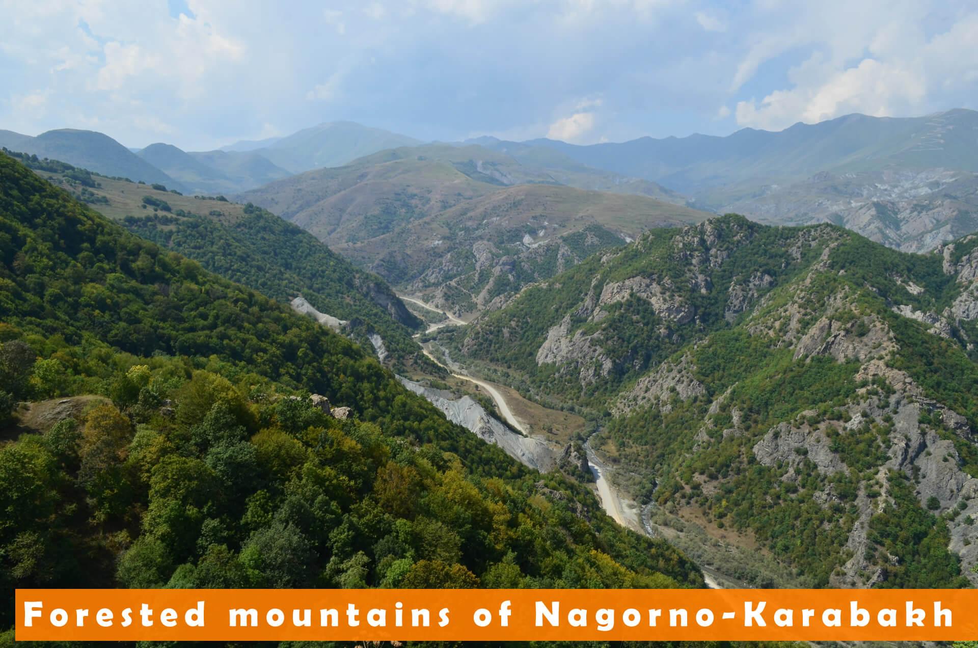 Forested mountains of Nagorno-Karabakh