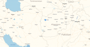 herat afghanistan cities map