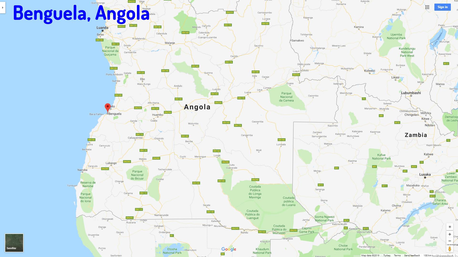 Benguela Map Angola