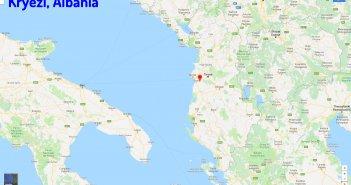 Kryezi map Albania