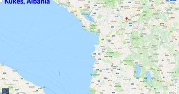 Kukes map Albania