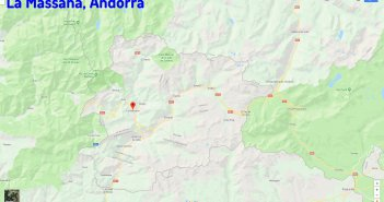 La Massana map andorra
