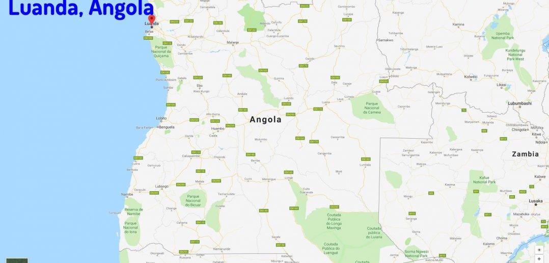 Luanda map Angola