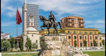 Tirana city center Albania