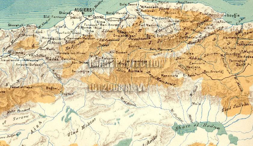 oran physical map algeria
