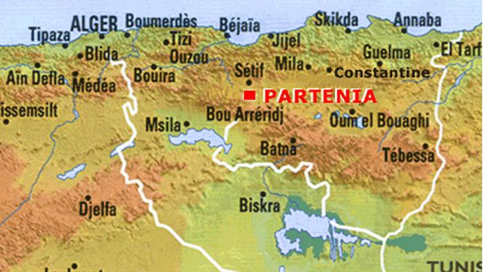 setif partenia algeria map
