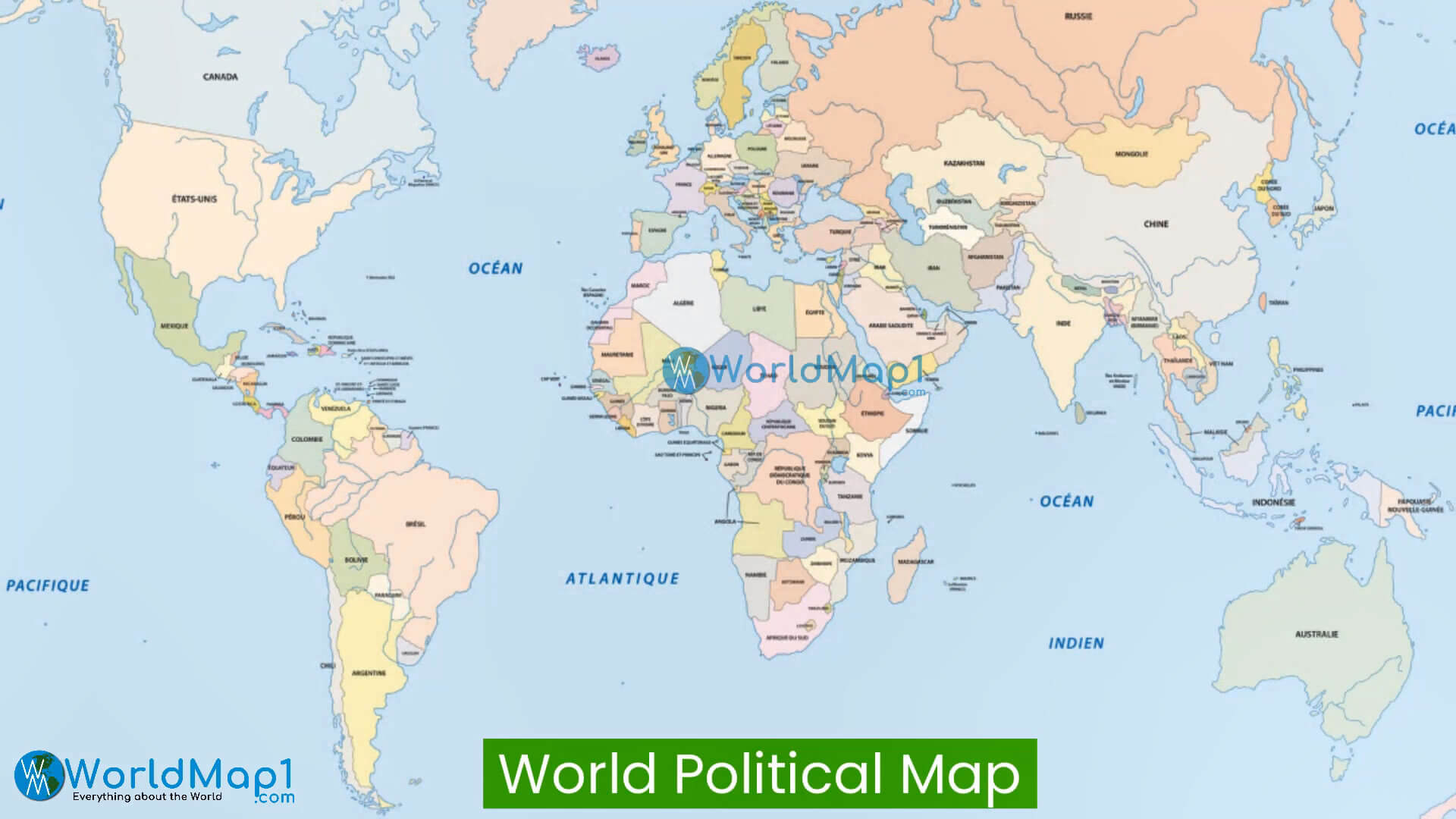 World Political Map with Countries