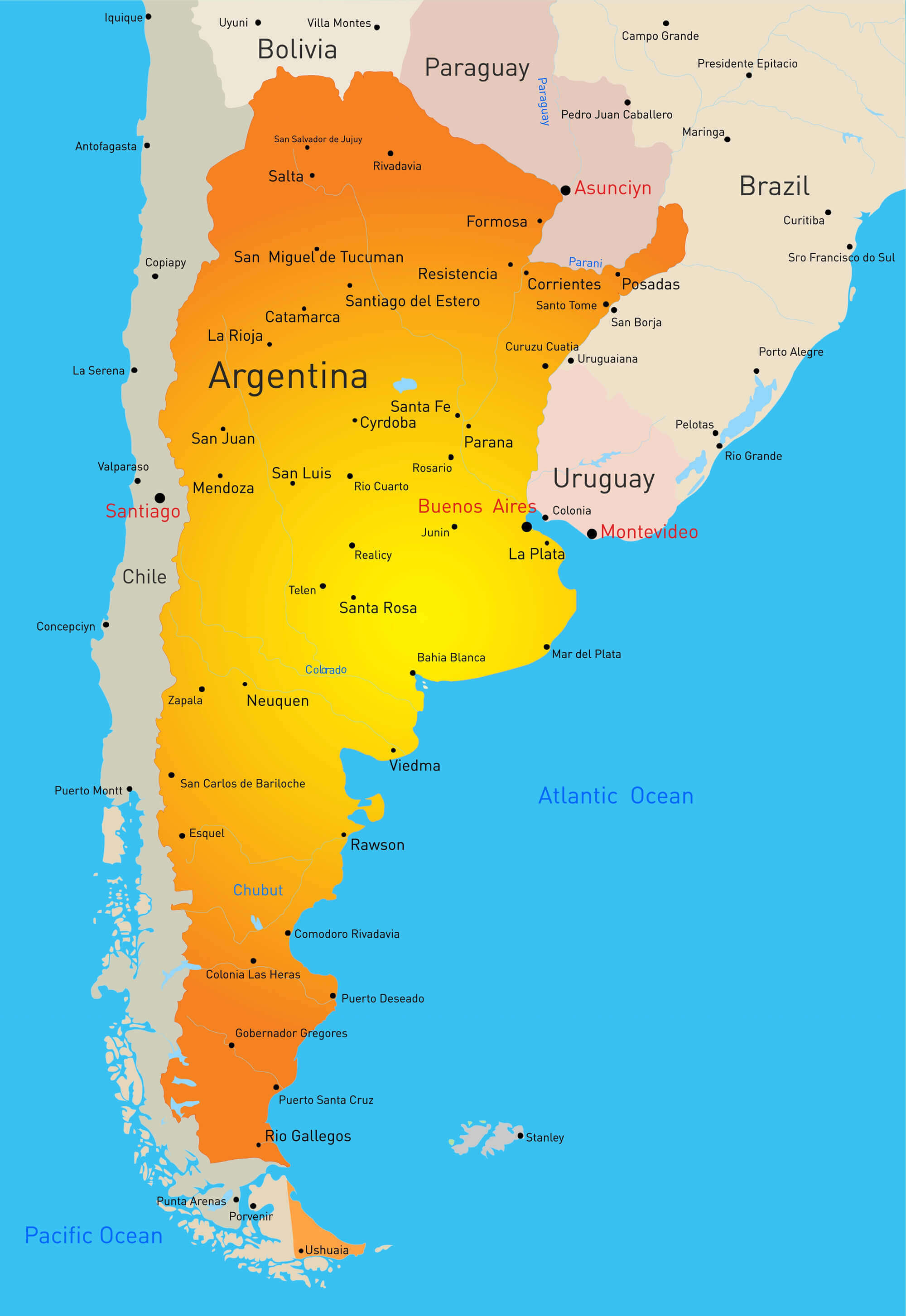 Argentina Country Map