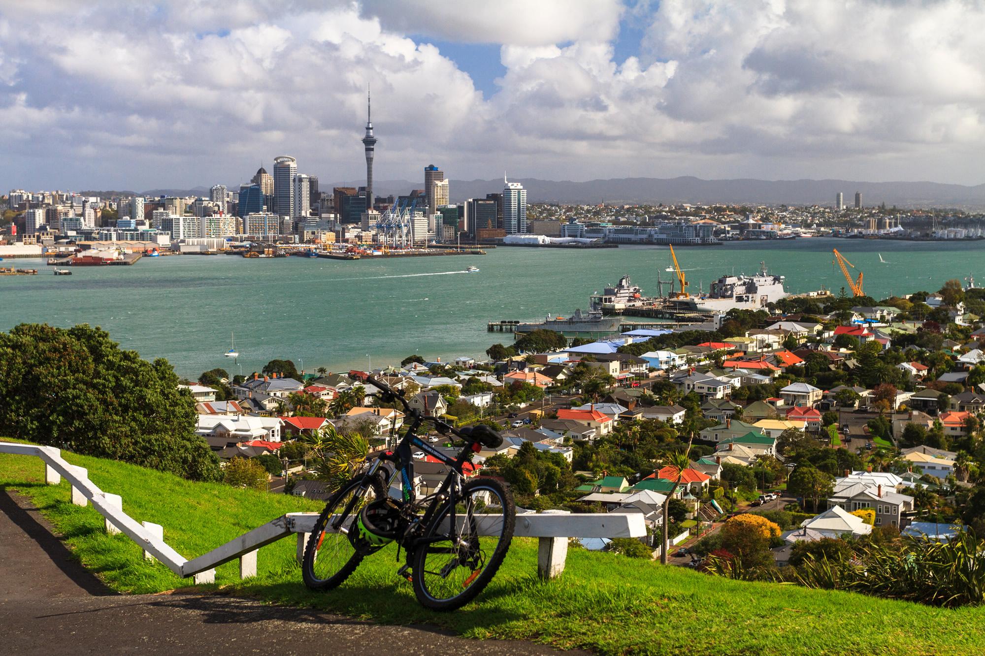 Auckland City from Mount Victoria, Devonport, New Zealand