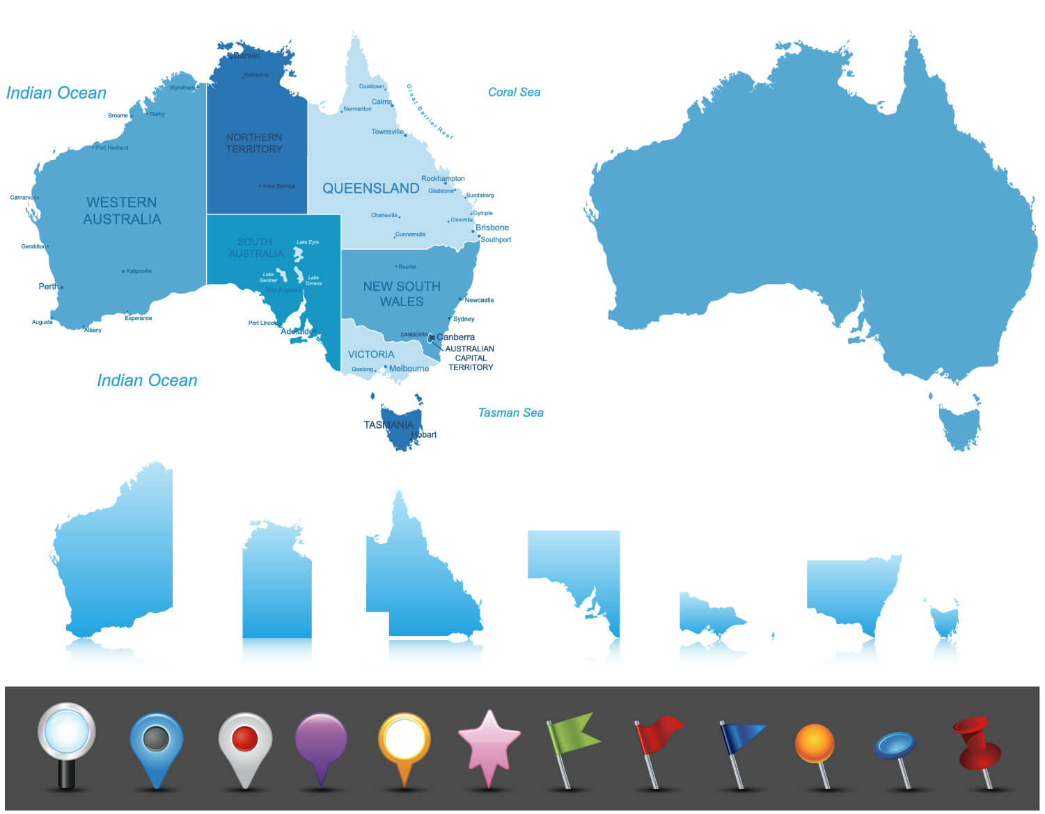Australia Highly Detailed Map