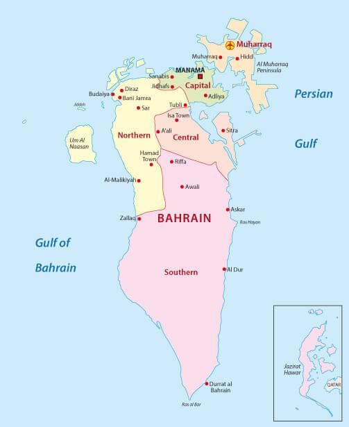Bahrain Administrative Map