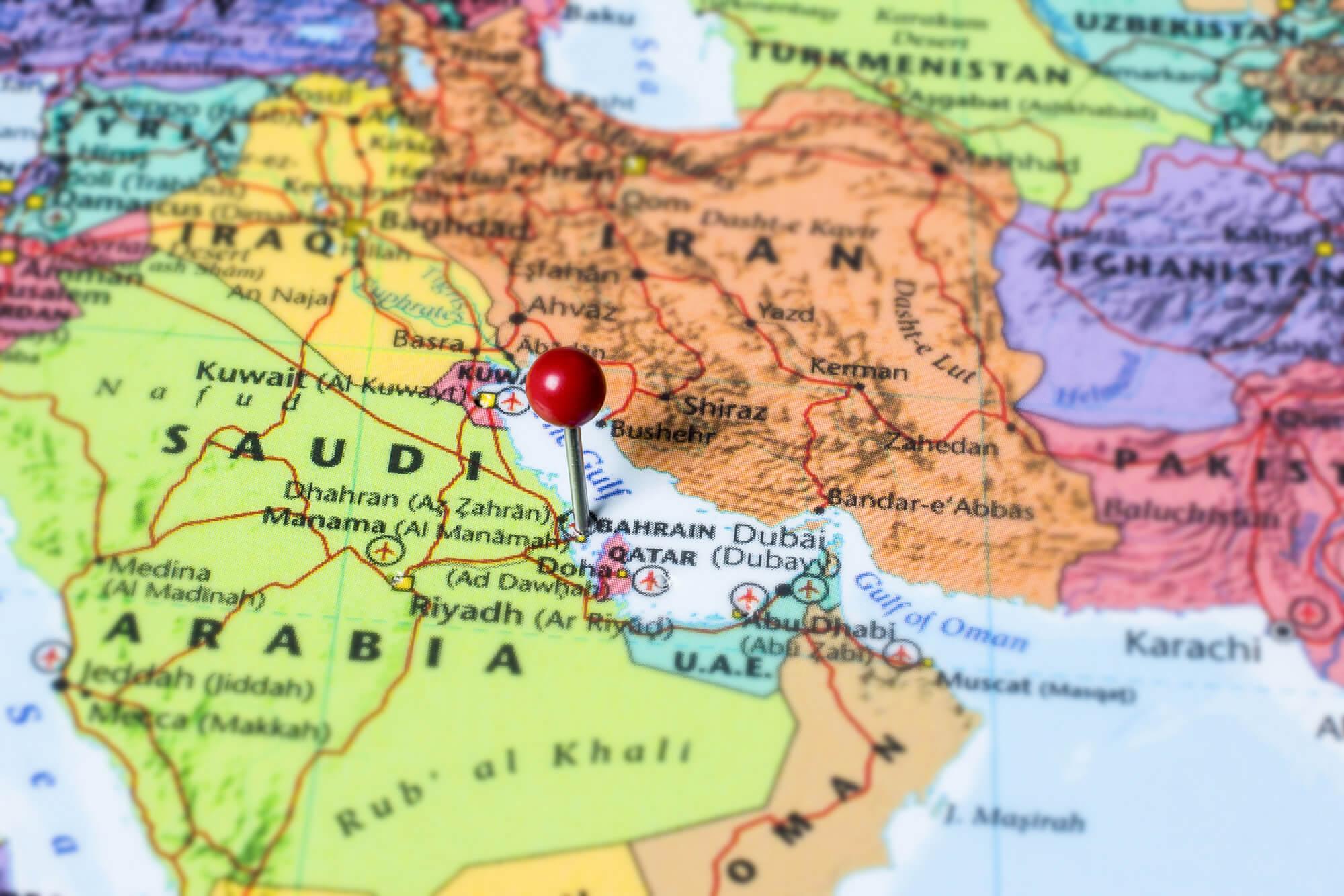 Bahrain Map with Manama