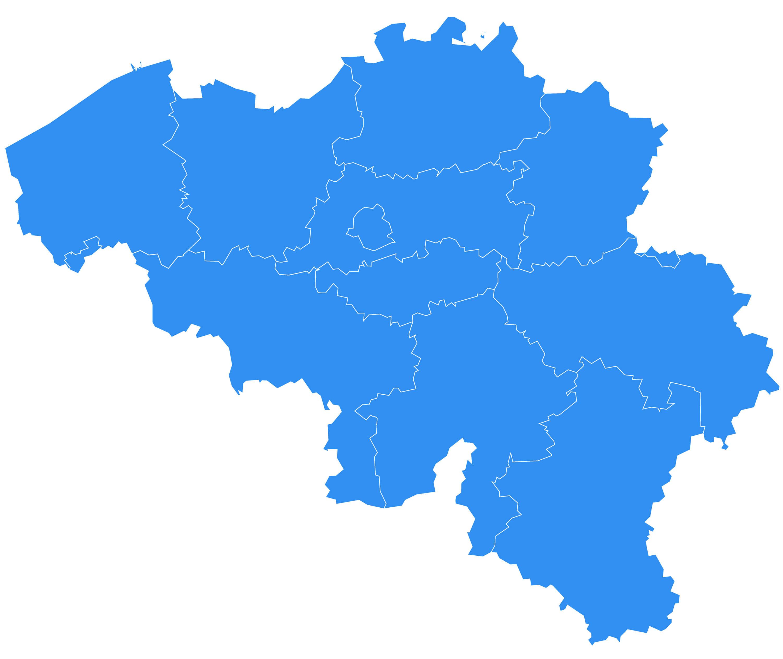 Belgium Blank Map