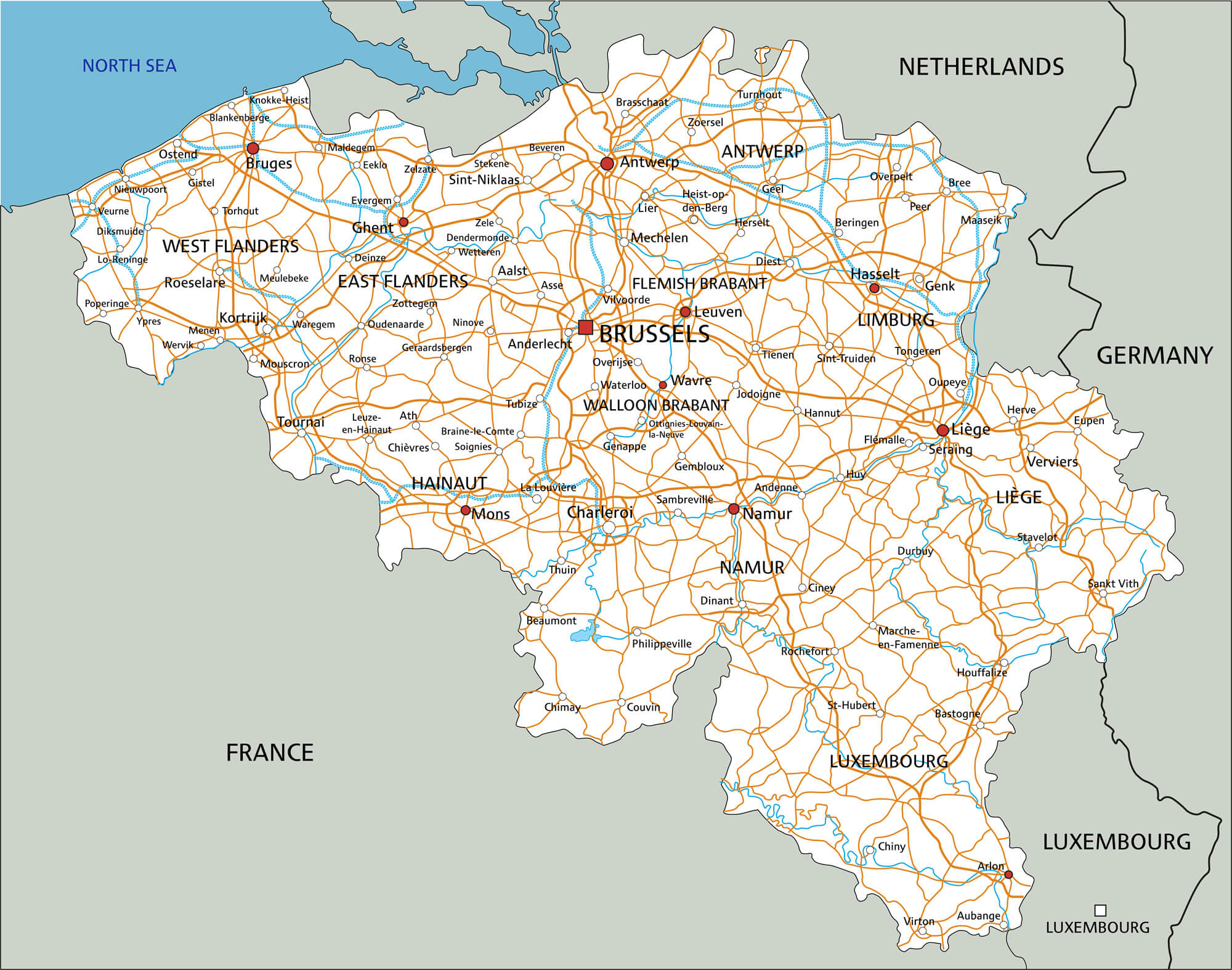 Belgium Road Map