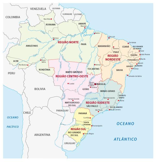 Brazil Administrative Map