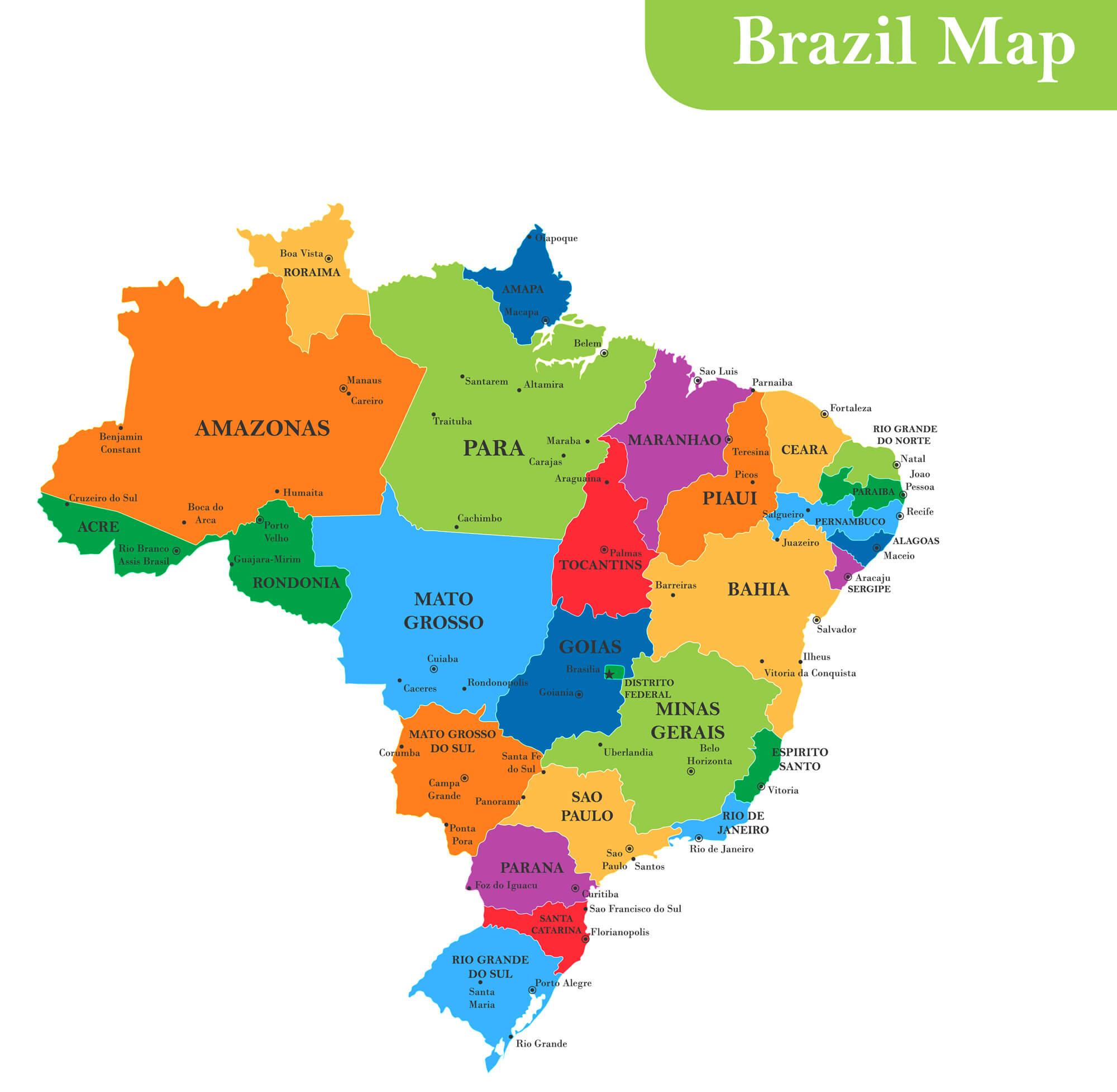 Brazil Provinces Map