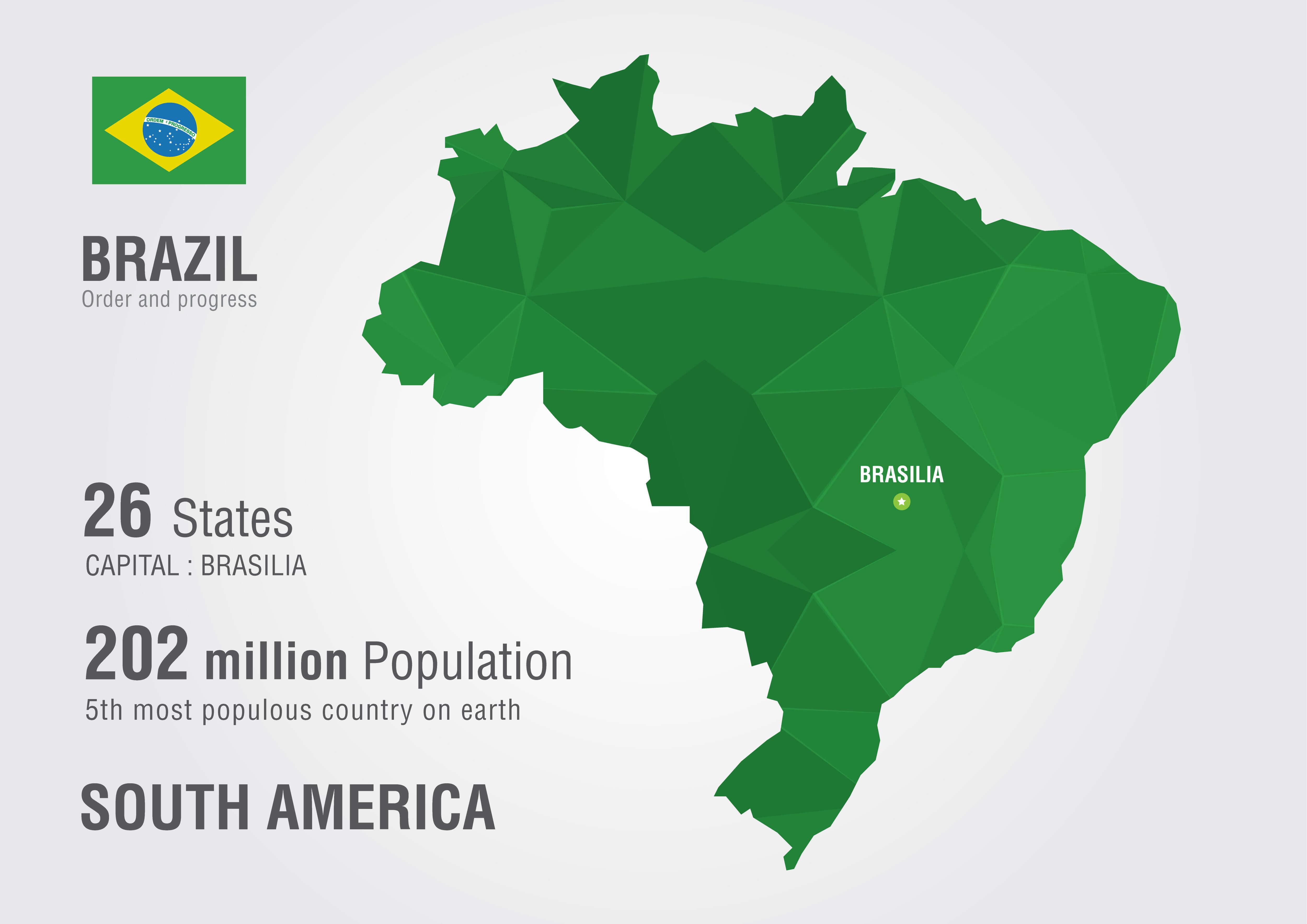 Brazil South America Map
