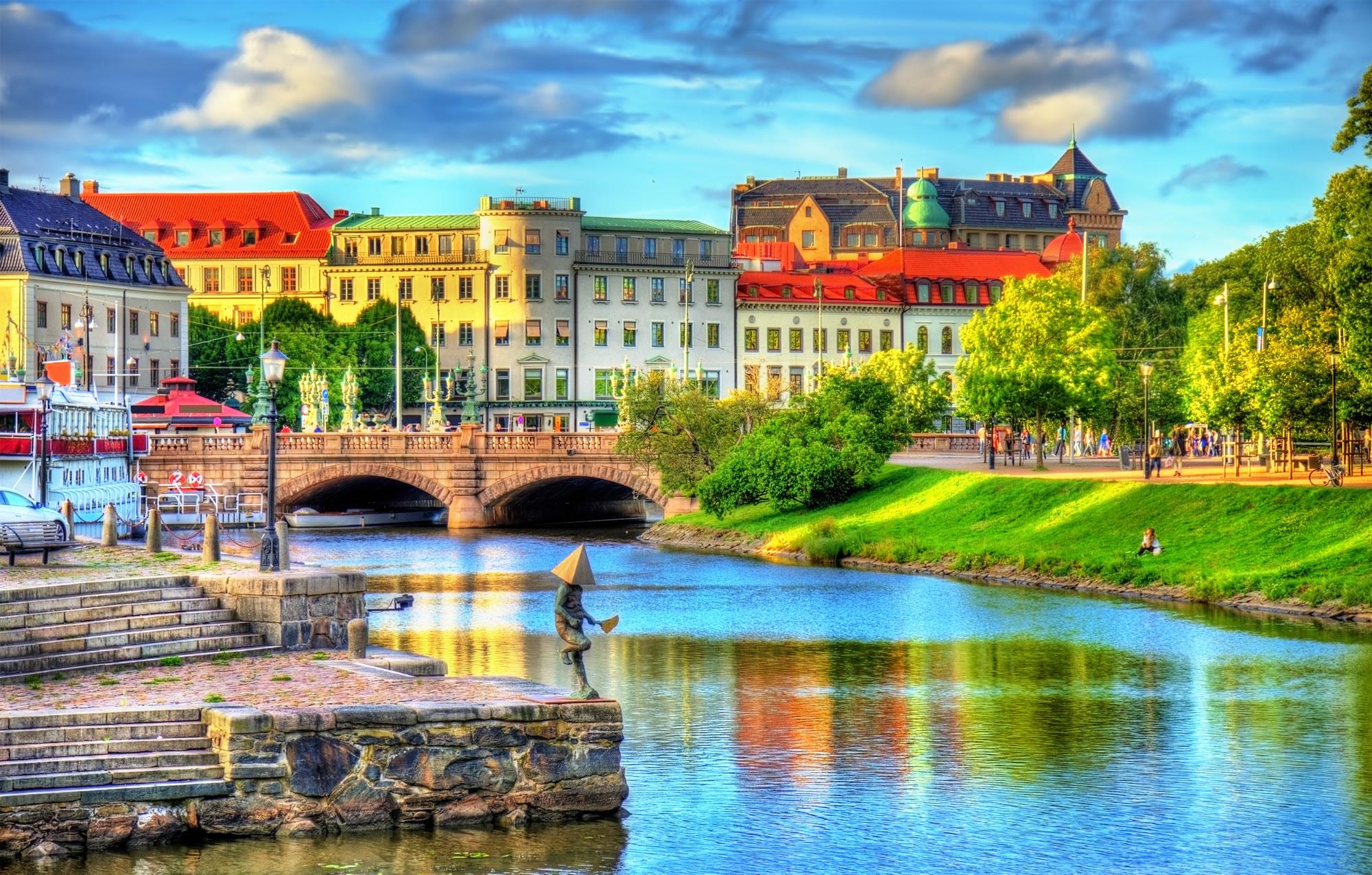 Centre of Gothenburg, Sweden