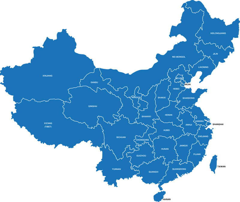 China Blank Map