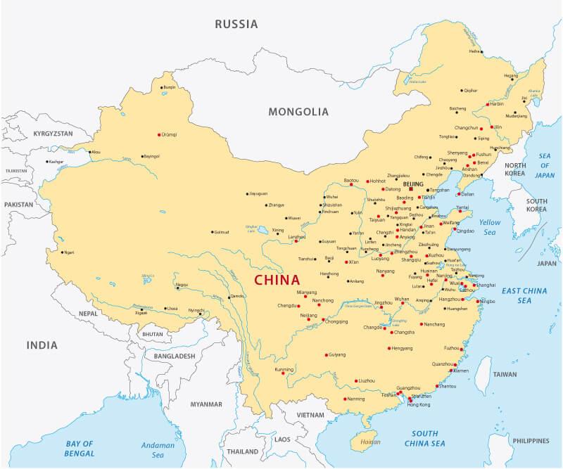 China Cities Map