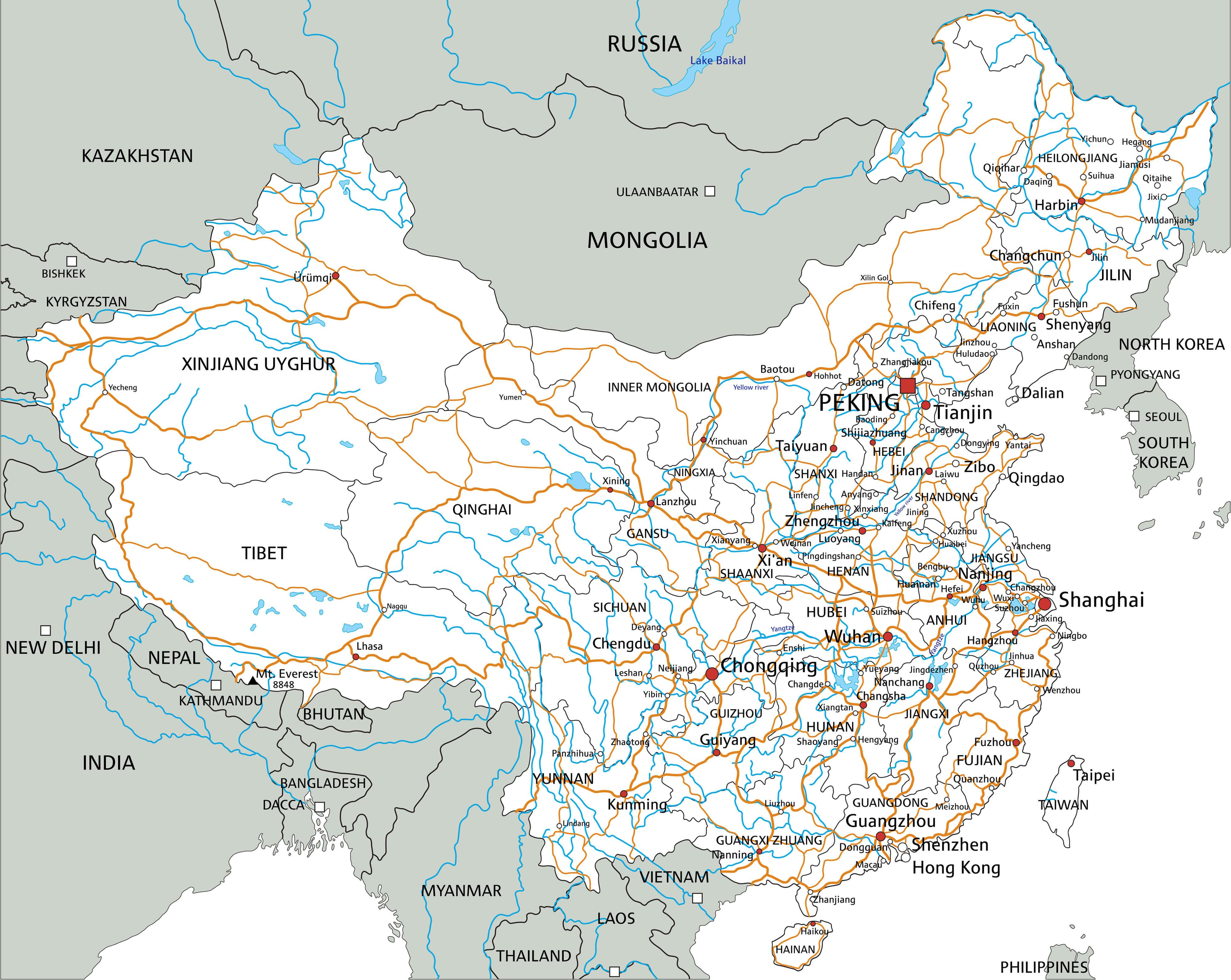 China Road Map