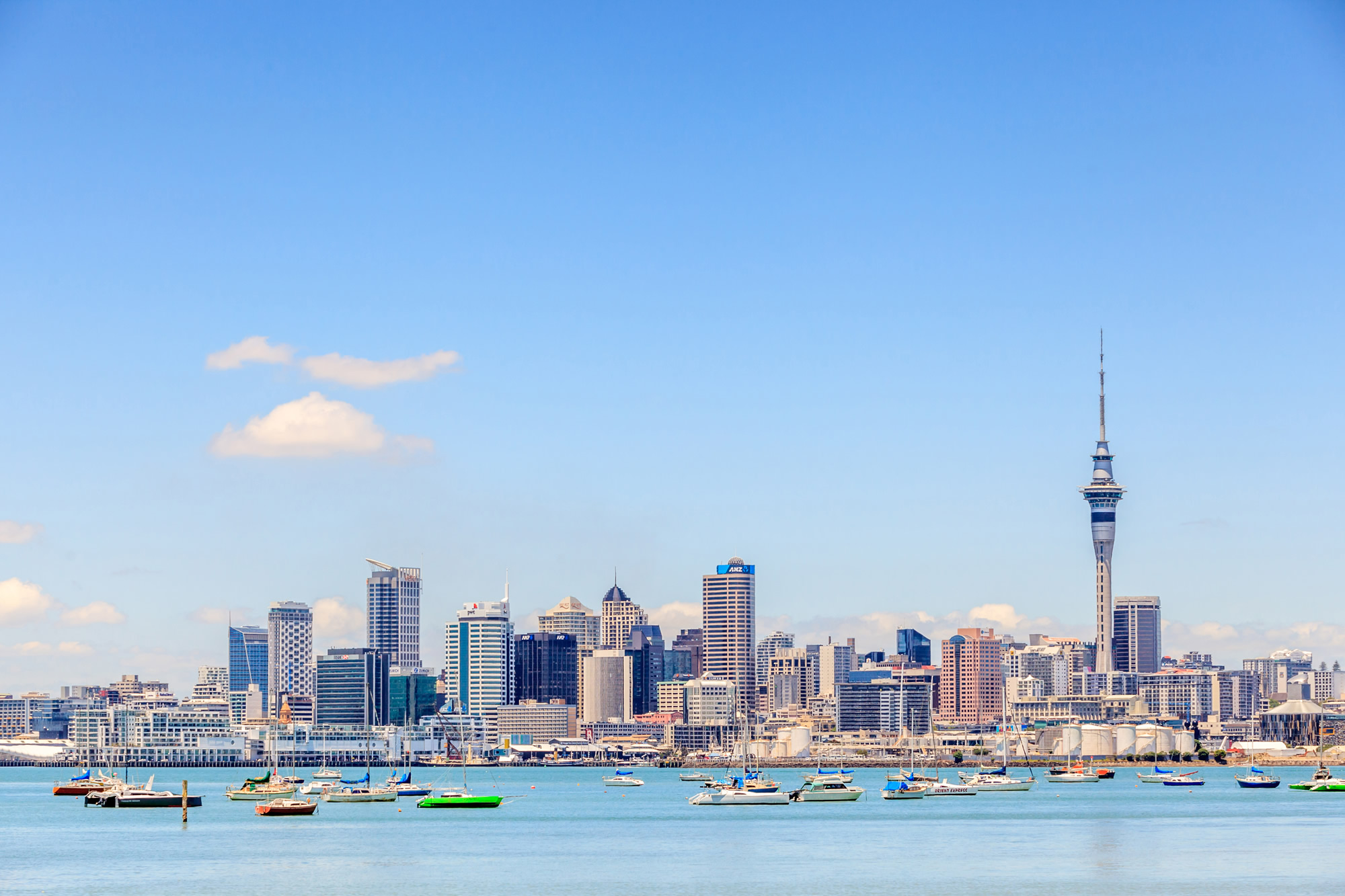 Cityscape of Auckland, New Zealand