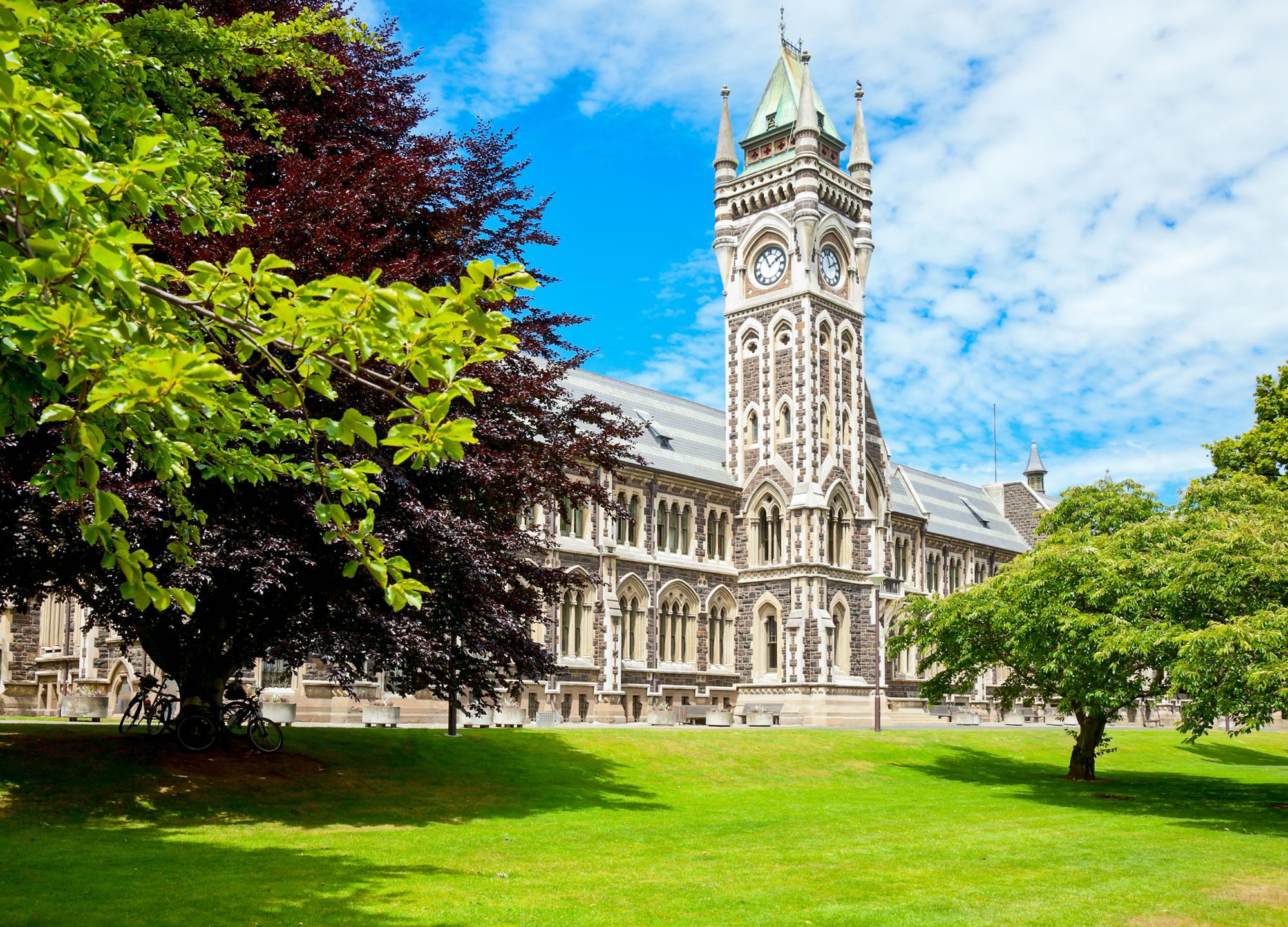 Clocktower of University of Otago, New Zealand